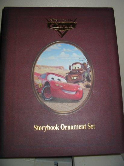 Disney Cars Storybook Ornament Set In Box Never Displayed