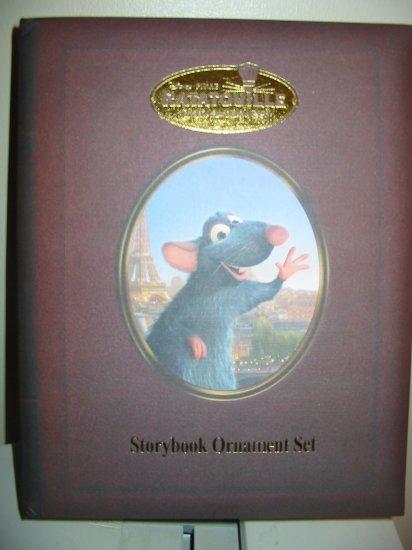 Disney Ratatouille Storybook Ornament Set In Box Never Displayed