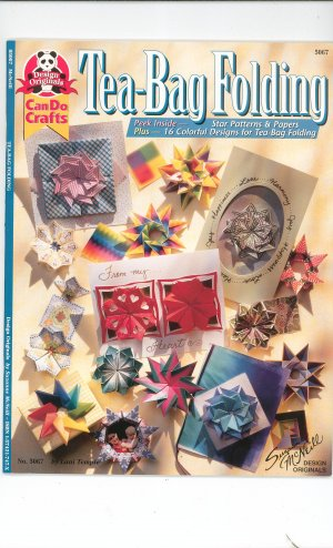 Tea Bag Folding Craft Book Suzanne McNeill Can Do Crafts 5067 157421747x