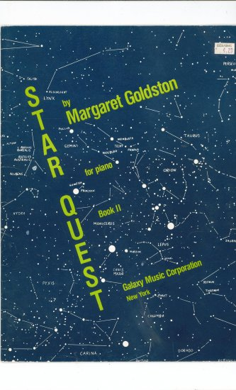 Star Quest Book II For Piano by Margaret Goldston Signed by Author