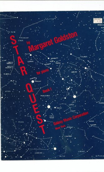 Star Quest Book I For Piano by Margaret Goldston