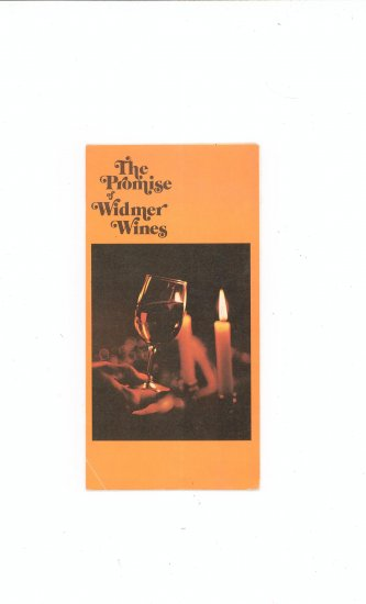 Widmer Wine Advertising / Product Brochure / Catalog