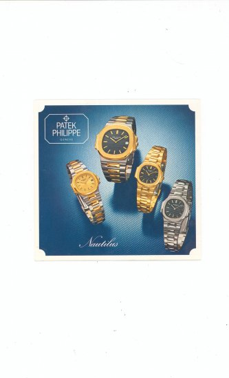 Patek Philippe Advertising / Product Brochure / Catalog