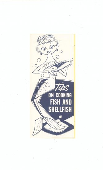 Lot Of 2 Tips On Cooking Fish And Shellfish Cookbook / Leaflet