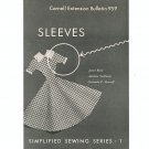 Vintage Cornell Extension Bulletin 959 Sleeves Simplified Sewing Series 1 1959