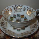 Cup And Saucer Souvenir Canada Gold Trim Coats Of Arms & Emblems Made In England