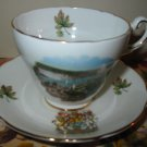 Cup And Saucer Souvenir Canada Gold Trim  Made In England