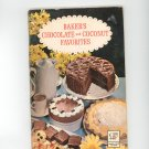 Bakers Chocolate And Coconut Favorites Cookbook 1962 First Printing  by General Foods Vintage