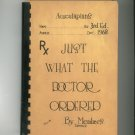 Vintage Aesculapians Just What The Doctor Ordered Cookbook 1968 Regional New York Advertising