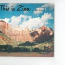 This Is Zion by Allen Hagood Souvenir Book Plus Post Cards Vintage 1969