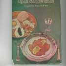 The Oskar Davidsen Book Of Open Sandwiches Cookbook Vintage 1965