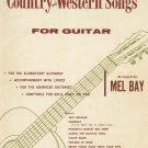 Country And Western Songs For Guitar By Mel Bay Vintage Leeds Music