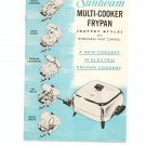 Vintage Sunbeam Multi Cooker Frypan Buffet Style Manual & Cookbook