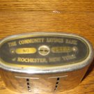 The Community Savings Bank Rochester New York Advertising / Souvenir Metal Bank Traveling Teller