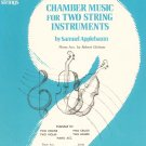 Chamber Music For Two String Instruments by Samuel Applebaum Book One Vintage 1972