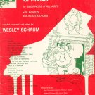 Christmas Favorites For Piano For Beginners Of All Ages by Wesley Schaum Vintage 1961