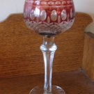 Lot Of Two Vintage Stem Glasses Wine Red