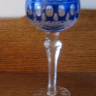 Lot Of Two Vintage Stem Glasses Wine Blue