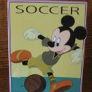 Soccer It's A Kick Disney Mickey & Friends Plaque 045544067645