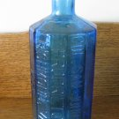 Wheaton Blue Bottle A Lancaster's Indian Vegetable Jaundice Bitters Bottle