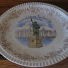 Souvenir Vintage Statue Of Liberty New York City Enco 22K Gold  Collector Plate