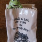 Souvenir Pittsburgh Frog In Bag How Cute