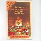 Rexalls 75th Anniversary Country Cook Book Cookbook Vintage
