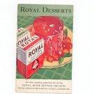 Vintage Royal Desserts Cookbook 1932 Gelatin & Pudding