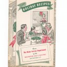Vintage Holiday Recipes Cookbook Regional Rochester Gas & Electric New York