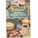 Prince Golden Macaroni Recipes Cookbook Vintage