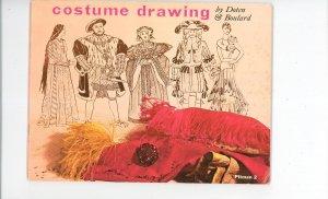 Costume Drawing by Doten & Boulard Pitman 2 Vintage 1956