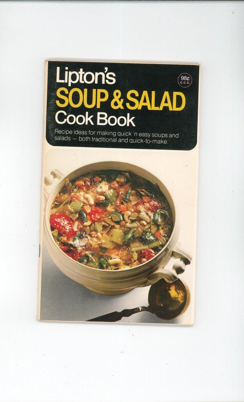 Vintage Lipton's Soup & Salad Cook Book Cookbook 1970