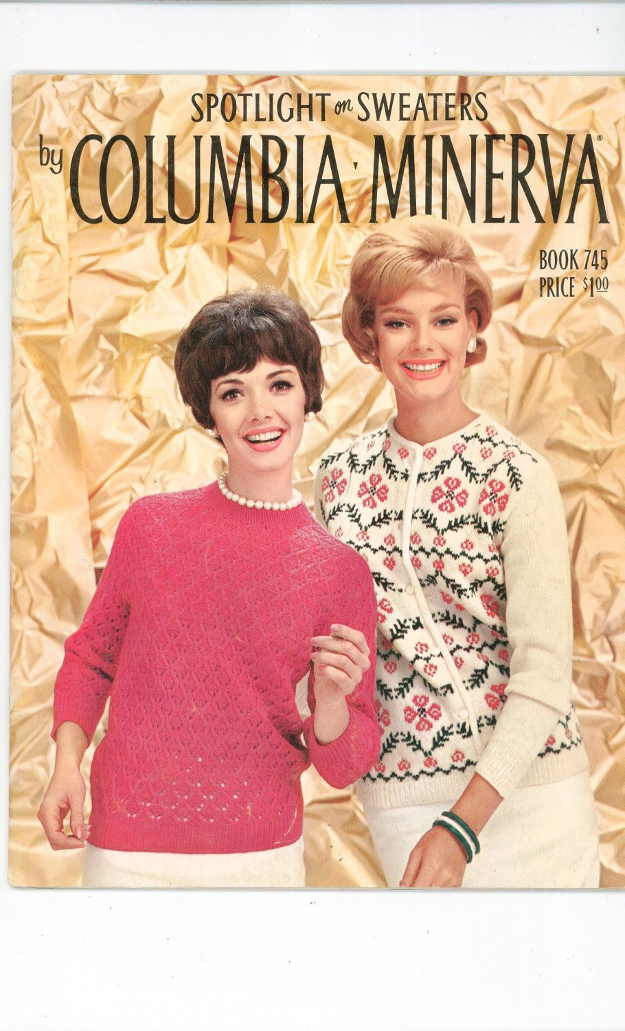 Spotlight On Sweaters by Columbia Minerva Book 745 Vintage Knitting