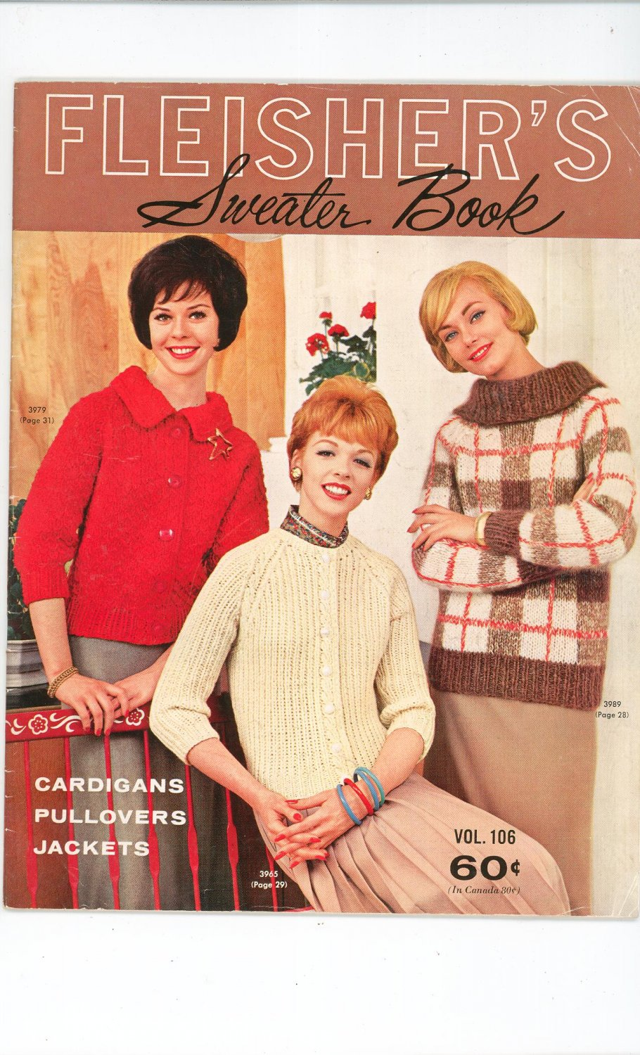 Fleisher's Sweater Book Vol. 106 Knitting Vintage Cardigans Pullovers Jackets