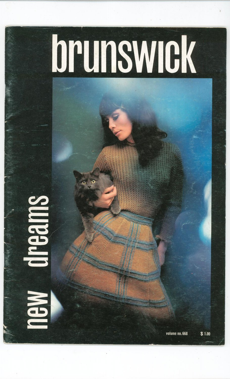 Brunswick New Dreams Volume No. 668 Knitting Book Vintage