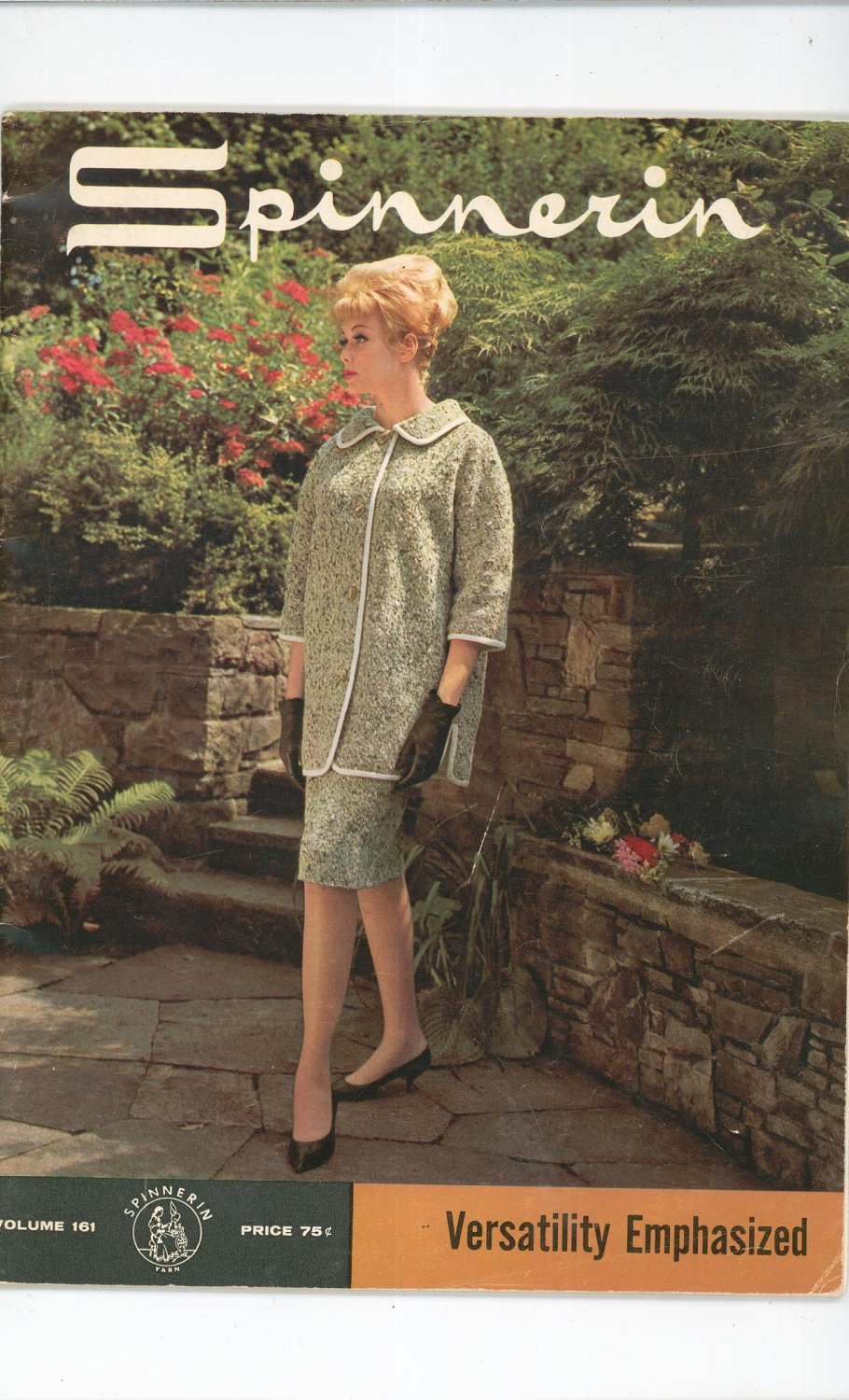 Vintage Spinnerin Versatility Emphasized Volume 161 1962 Knit Crochet
