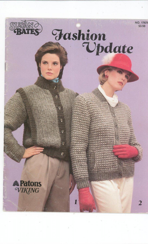Susan Bates Fashion Update No. 17678 1984 Patons Viking