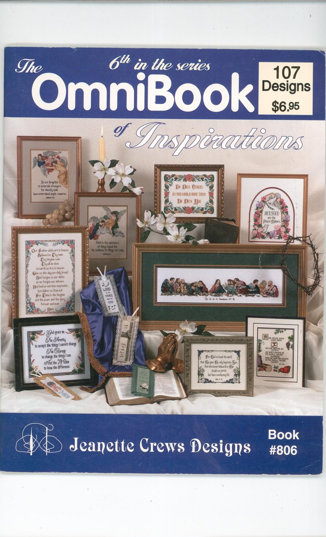 The Omnibook Jeanette Crews Designs Book # 806 Cross Stitch 1994
