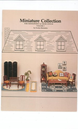 Miniature Collection Volume 1 by Evelyn Bernstein Cross Stitch Needlepoint 1981