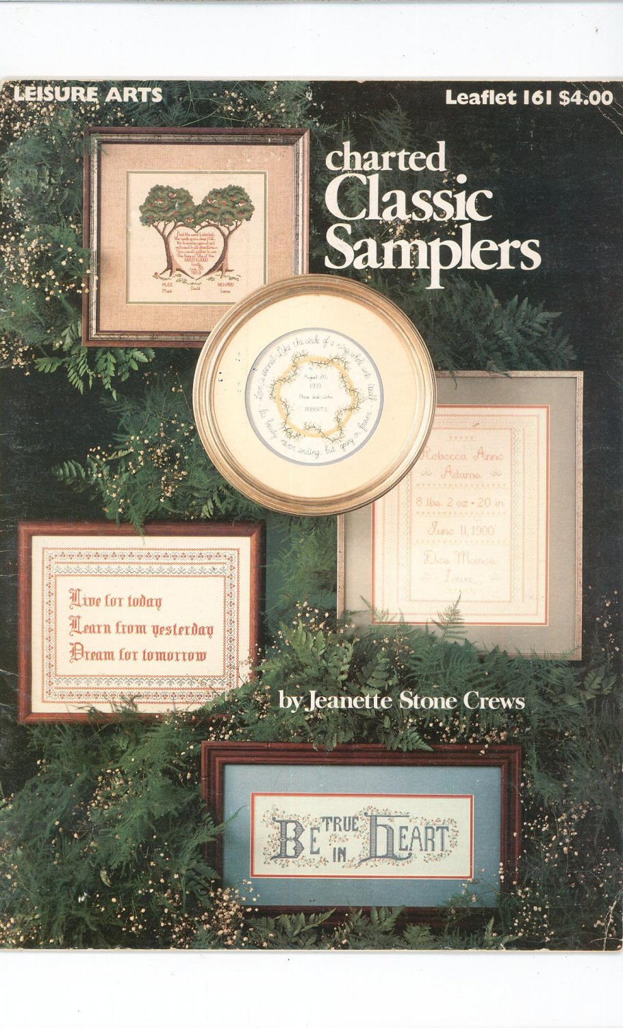 Charted Classic Samplers Cross Stitch Leisure Arts Leaflet 161 Vintage 1979