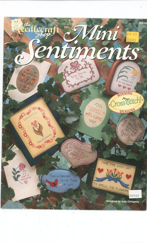 Mini Sentiments Needlecraft Shop 916303 Cross Stitch Judy Chrispens 1991