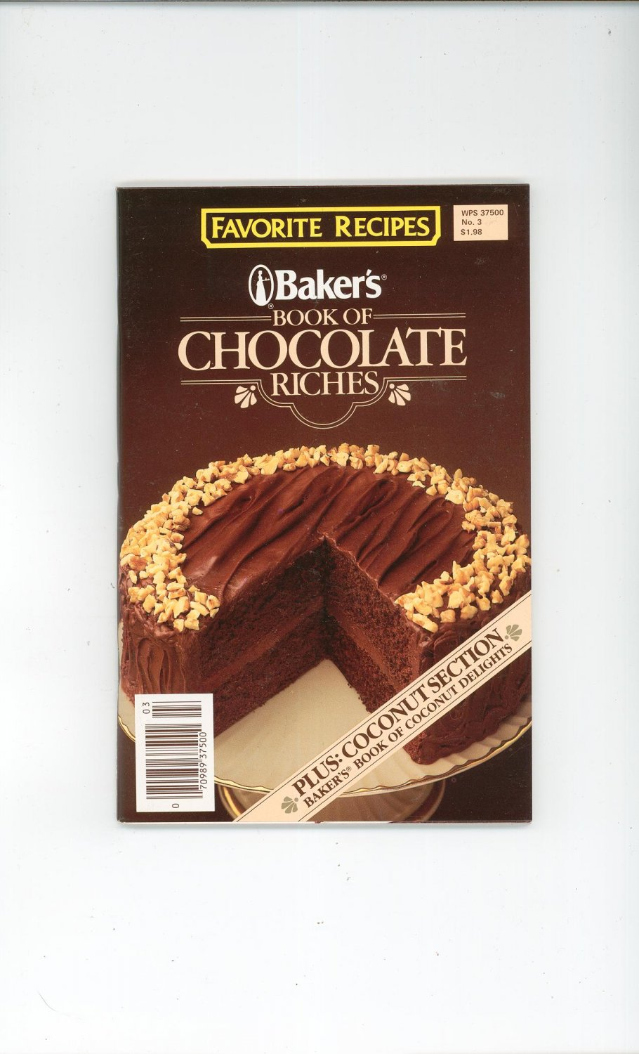 Baker's Book Of Chocolate Riches Cookbook Number 3 1985  Plus Coconut