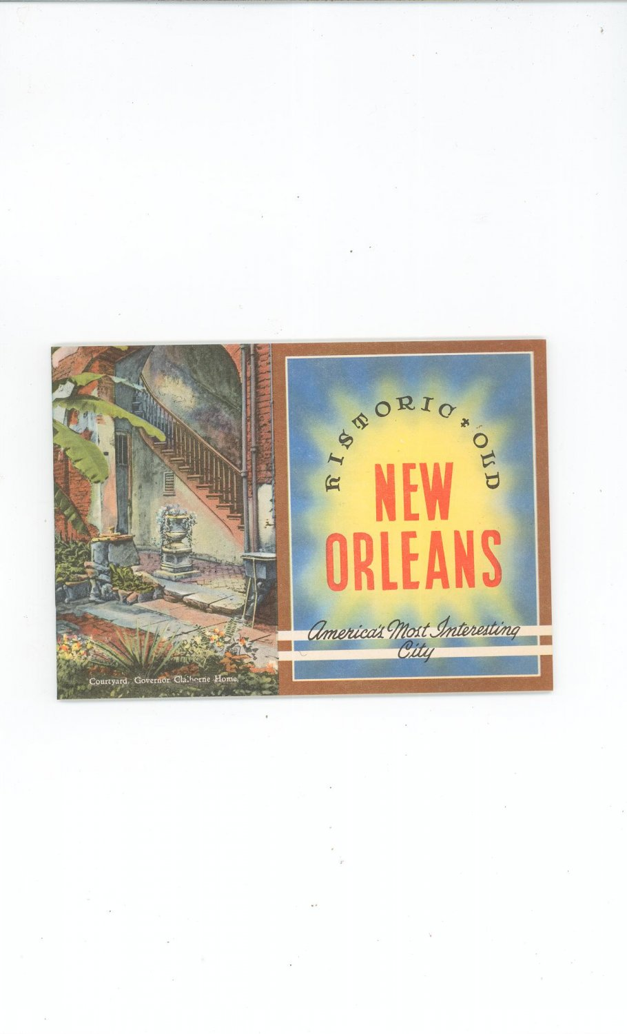 Awesome Vintage Historic Old New Orleans Souvenir Complete With Mailing Envelope 1940