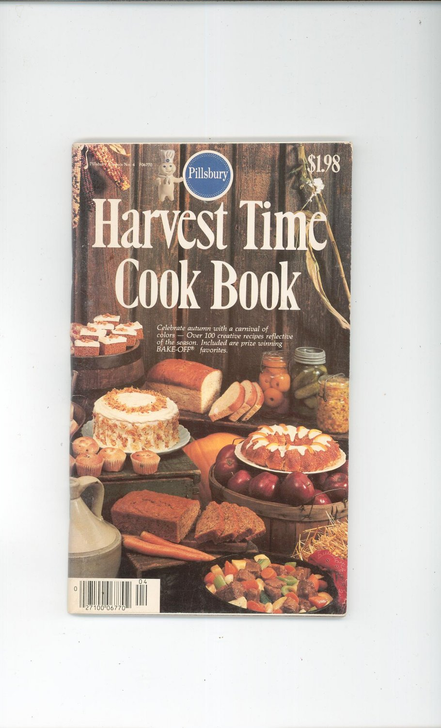 Pillsbury Harvest Time Cook Book Cookbook Classic No. 4  1980