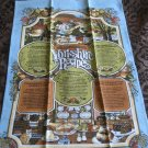 Souvenir Towel Traditional Yorkshire Recipes 1981 Vista 8239 All Cotton Made In Britain Very Vibrant