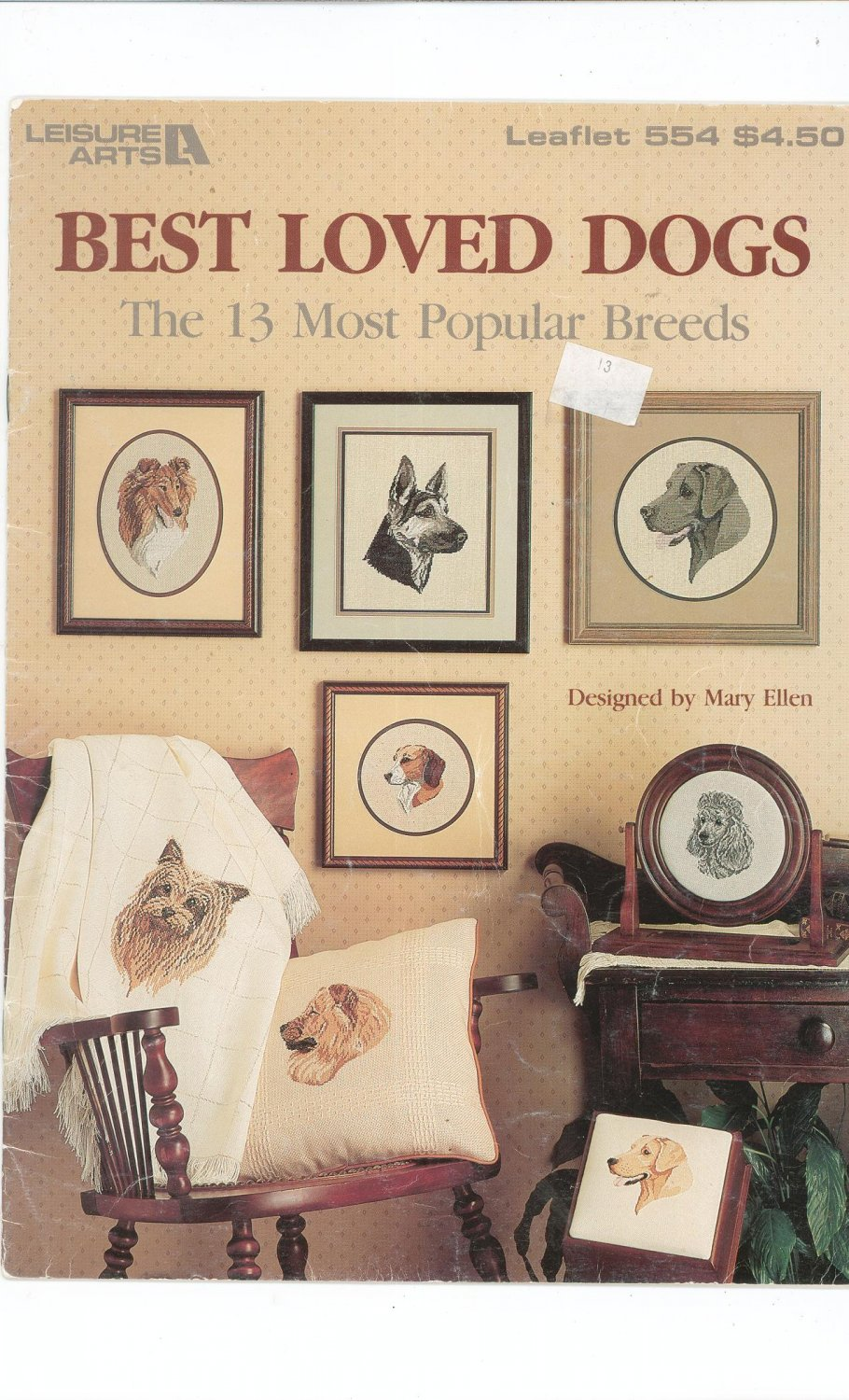Best Loved Dogs Leisure Arts 554 Cross Stitch