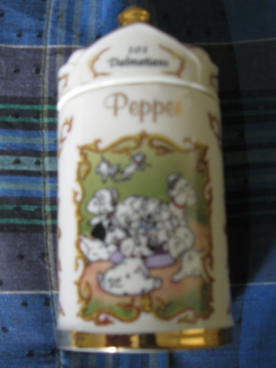 Awesome Disney 101 Dalmations Pepper Spice Jar Lenox 1995 Collection