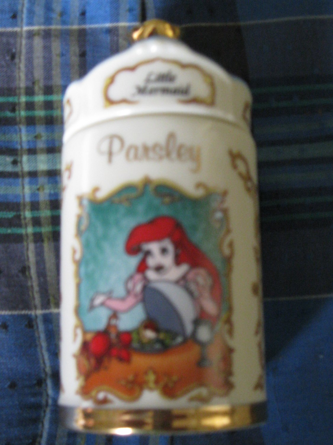 Awesome Disney Little Mermaid Parsley Spice Jar Lenox 1995 Collection