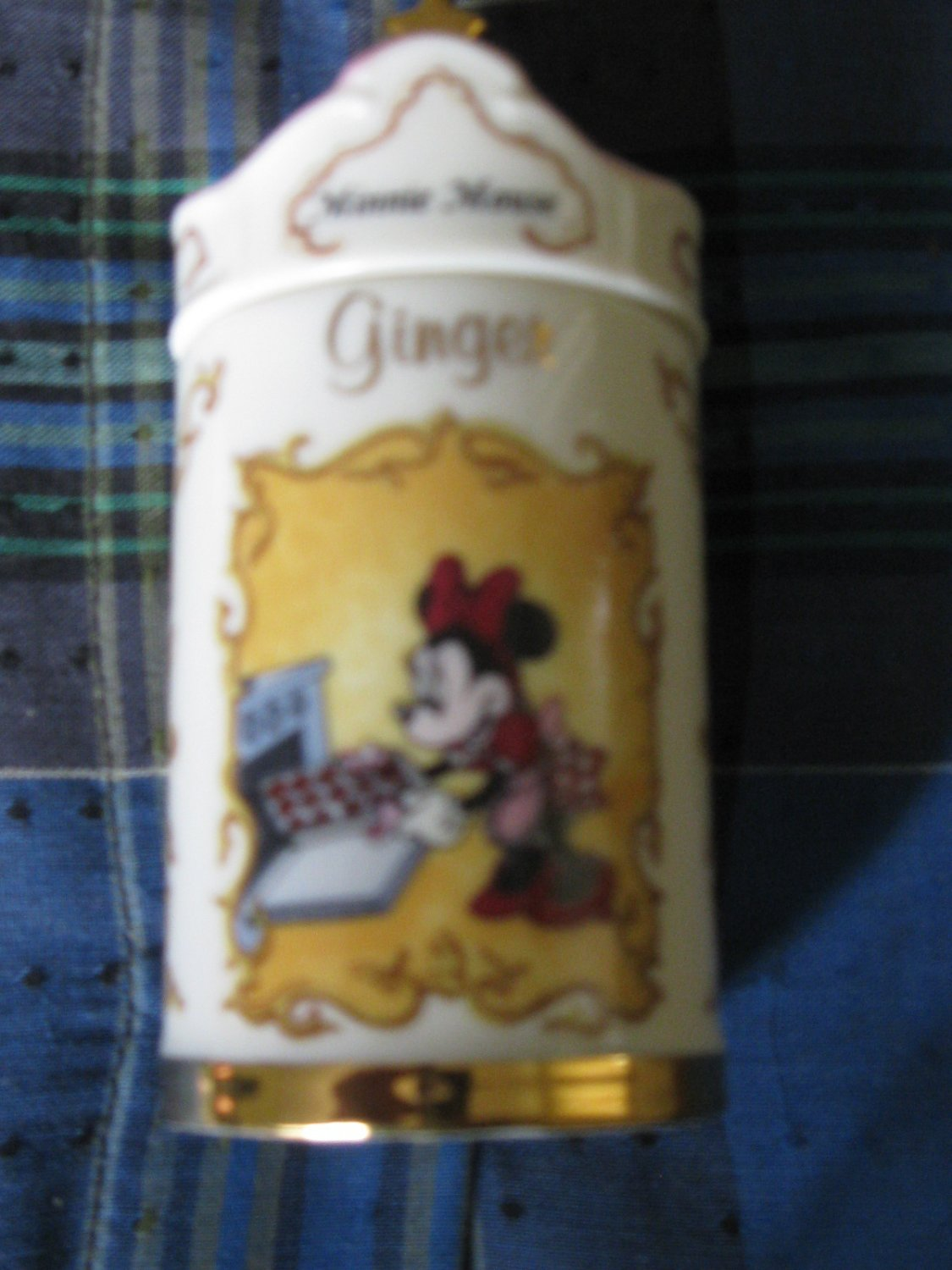 Awesome Disney Minnie Mouse Ginger Spice Jar Lenox 1995 Collection