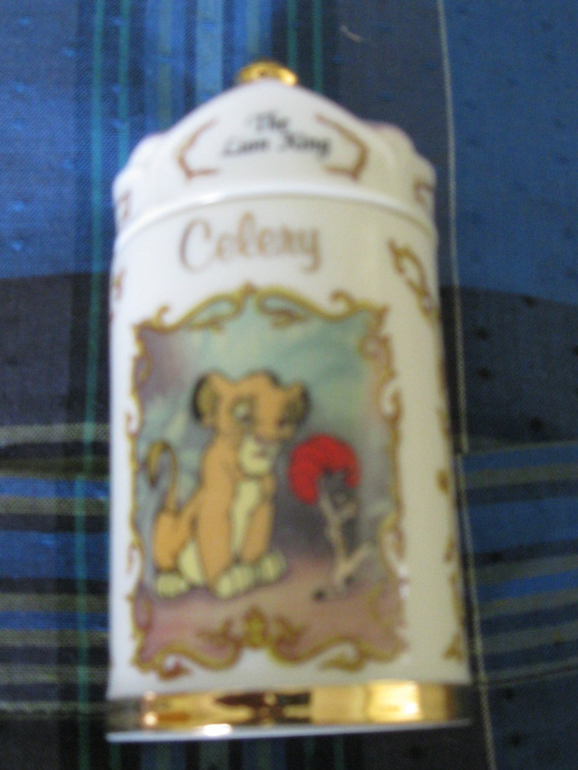 Awesome Disney The Lion King Celery Spice Jar Lenox 1995 Collection